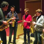 group saxophone lesson