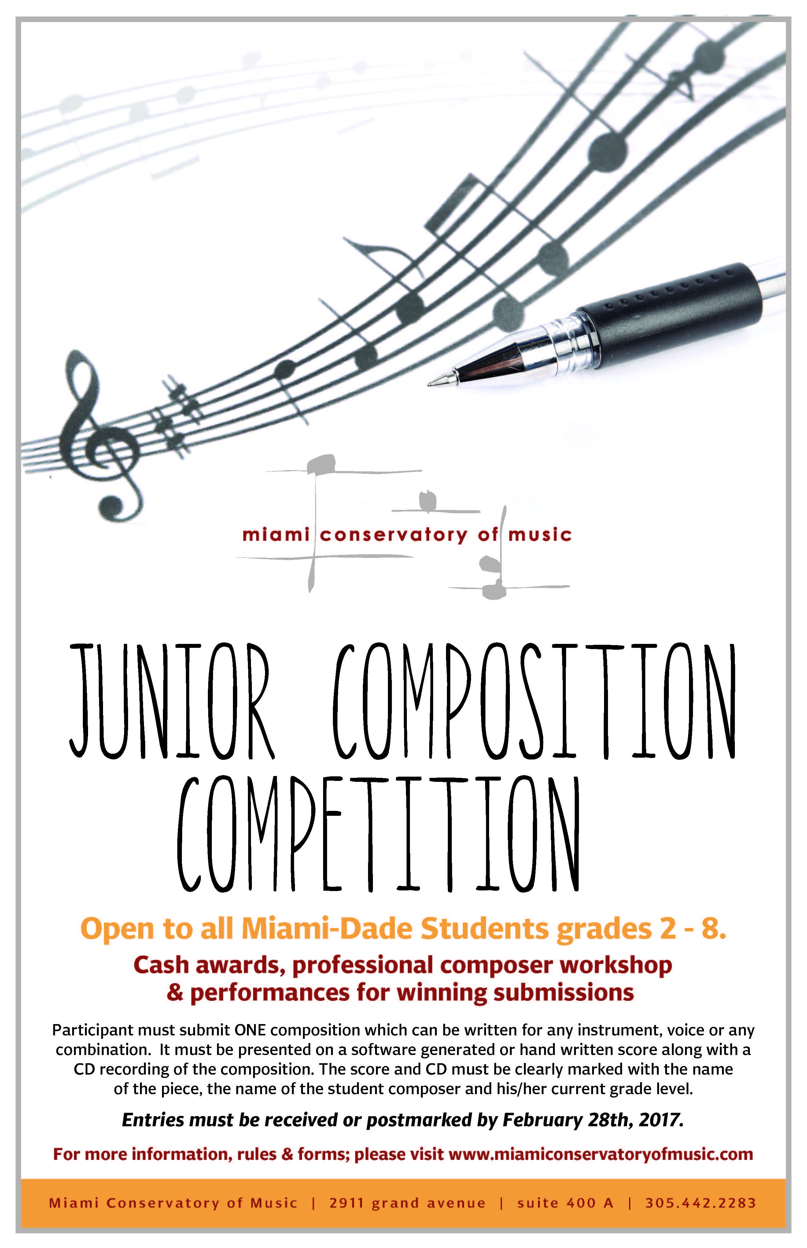 Competitions – Miami Conservatory of Music