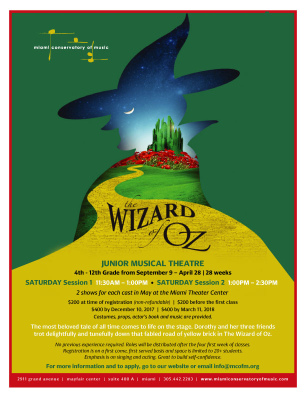 The Wizard of Oz Shows (Junior I and II)