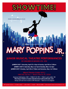 Show Mary Poppins Jr.2 & 3 at Miami Theater Center