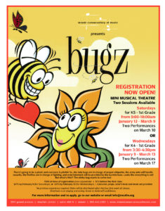 Spring Mini Musical Theatre for grades K5-1st