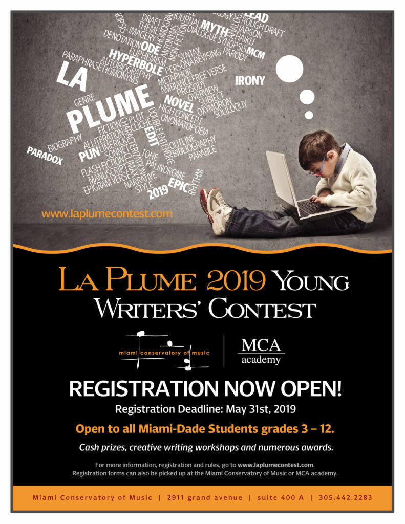 2019 La Plume Young Writers' Contest – Submission Deadline