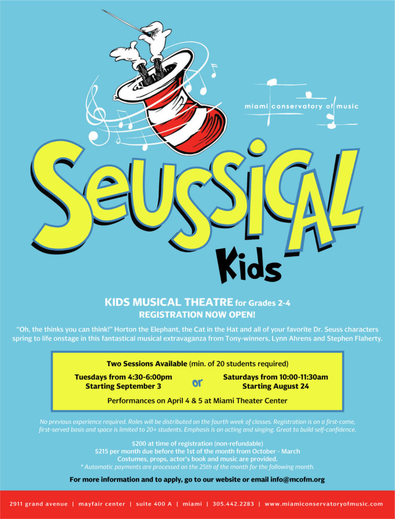 Seussical Kids Flyer
